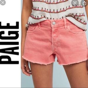 Paige denim cut off shorts 25